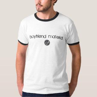 Camiseta T-shirt do material do namorado