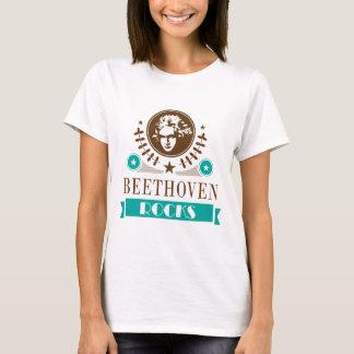 Camiseta T-shirt do melómano das rochas de Beethoven