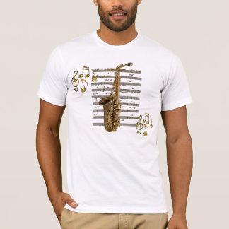 Camiseta T-shirt do melómano do músico do SAXOFONE