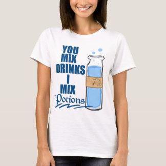 Camiseta T-shirt do misturador da bebida