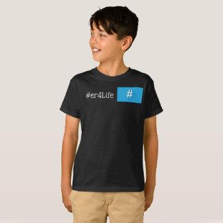 Camiseta T-shirt do miúdo de #er4Life