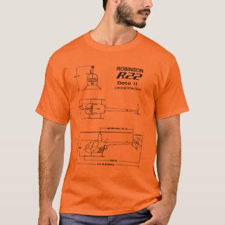 Camiseta T-shirt do modelo do helicóptero de R-22 Robinson