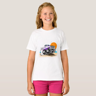Camiseta T-shirt do monster truck para meninas