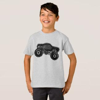 Camiseta T-shirt do monster truck para meninos