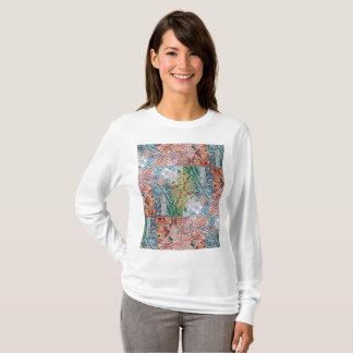 Camiseta T-shirt do mosaico dos retalhos da arte de Phoenix