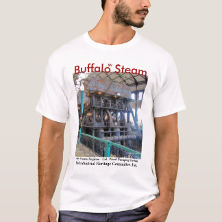 Camiseta T-shirt do motor de vapor do búfalo