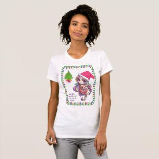 Camiseta T-shirt do Natal da diva do unicórnio do bebê do