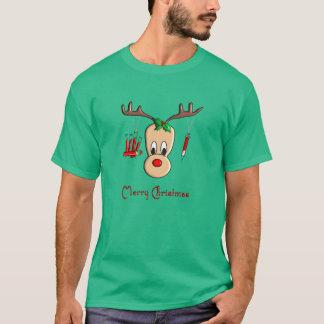 Camiseta T-shirt do Natal da rena de Phlebotomist