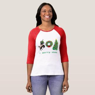 """Camiseta """"t-shirt do Natal de 8 bits""""/roupa variado"""