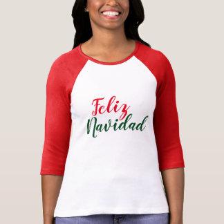 Camiseta T-shirt do Natal de Feliz Navidad