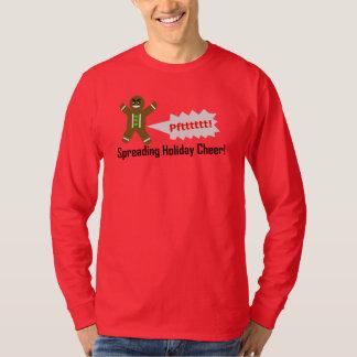 Camiseta T-shirt do Natal do homem de pão-de-espécie