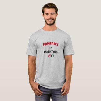 Camiseta T-shirt do Natal do Pawpaw primeiro