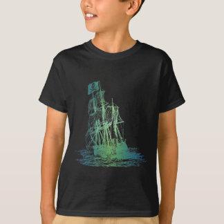 Camiseta T-shirt do navio de pirata dos miúdos