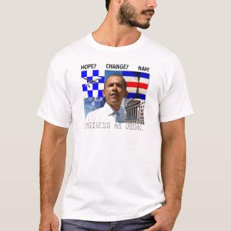 Camiseta T-shirt do NEGÓCIO de Obama COMO DE COSTUME