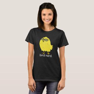Camiseta T-shirt do nerd do pássaro (escuro)