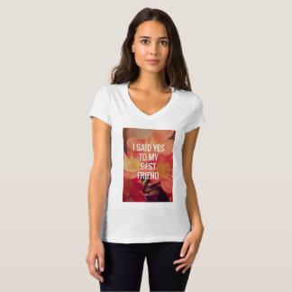 Camiseta T-shirt do noivado das mulheres