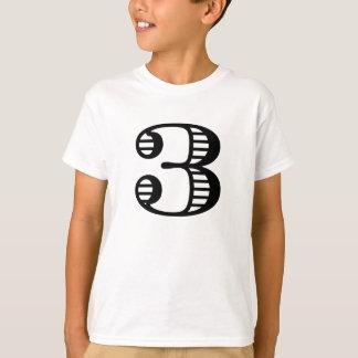 Camiseta T-shirt do número do aniversário da criança de