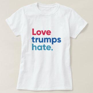 Camiseta T-shirt do ódio dos trunfos do amor