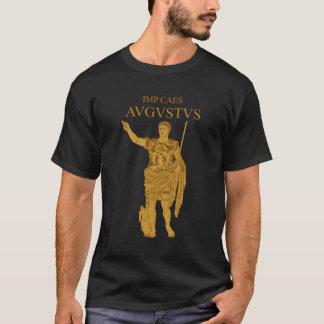 Camiseta T-shirt do ouro da estátua de Augustus