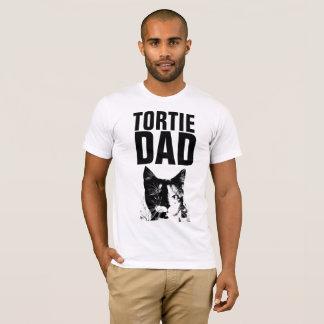 Camiseta T-shirt do PAI do CAT de TORTIE