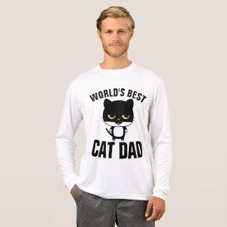 Camiseta T-shirt do PAI do CAT do MUNDO os MELHORES