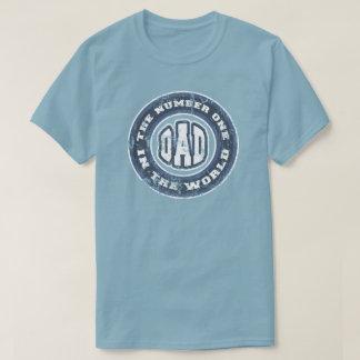 Camiseta T-shirt do pai do número 1 afligido
