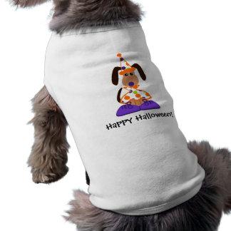 Camiseta T-shirt do palhaço do cão do Dia das Bruxas