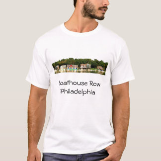 Camiseta T-shirt do panorama da fileira do Boathouse