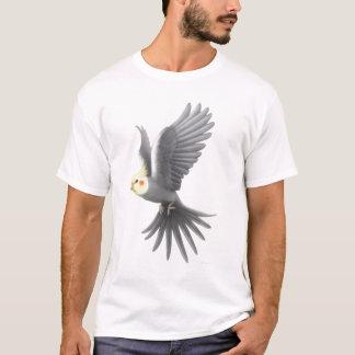 Camiseta T-shirt do papagaio do Cockatiel do vôo