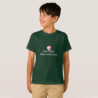 Camiseta T-shirt do papai noel dos meninos com nota