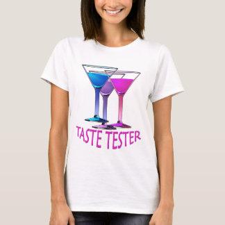 Camiseta T-shirt do partido das senhoras do verificador do