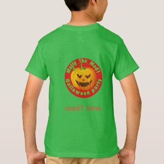 Camiseta T-shirt do partido do Dia das Bruxas