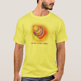 Camiseta T-shirt do partido dos homens do eclipse solar
