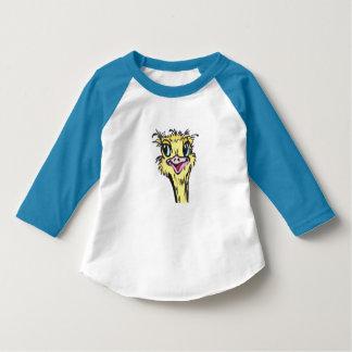 Camiseta T-shirt do pássaro da criança da avestruz