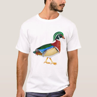 Camiseta T-shirt do pato de madeira