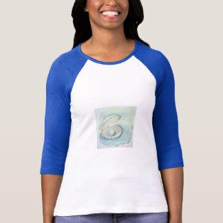 "Camiseta t-shirt do ""pérola das mulheres Seashell """