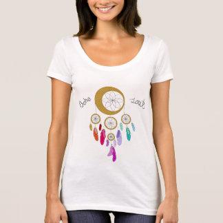 Camiseta T-shirt do pescoço da colher da alma de Boho