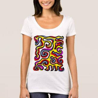 """Camiseta T-shirt do pescoço da colher da """"modéstia"""""""