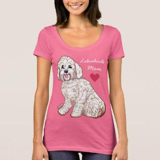 Camiseta T-shirt do pescoço da colher das mulheres da mamã
