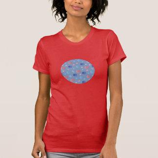 Camiseta T-shirt do pescoço de grupo das mulheres chinesas