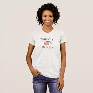 Camiseta T-shirt do pêssego de Macon Geórgia para mulheres