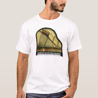 Camiseta T-shirt do piano de cauda do bebê