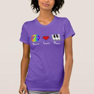 Camiseta T-shirt do piano do amor da paz