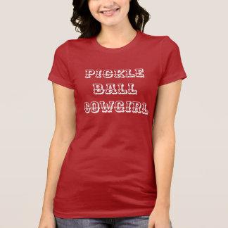 """Camiseta T-shirt do Pickleball das mulheres: DE """"VAQUEIRA"""