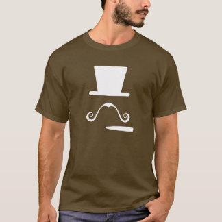 Camiseta T-shirt do pictograma do bigode & do charuto