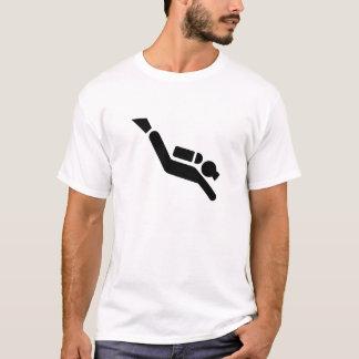 Camiseta T-shirt do pictograma do mergulho autónomo