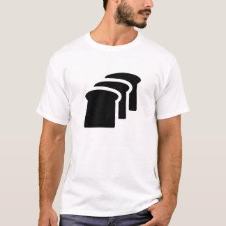 Camiseta T-shirt do pictograma do pão