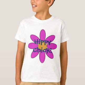 Camiseta T-shirt do pintinho do hippy