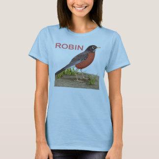 Camiseta T-shirt do pisco de peito vermelho