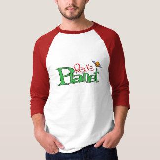Camiseta T-shirt do planeta do vermelho